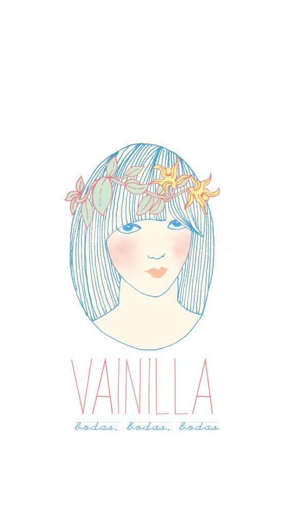 Logo for the wedding planners Vainilla. Bogotá. 2012